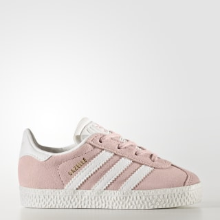 Gazelle Shoes Icey Pink / Cloud White / Gold Metallic BY9566