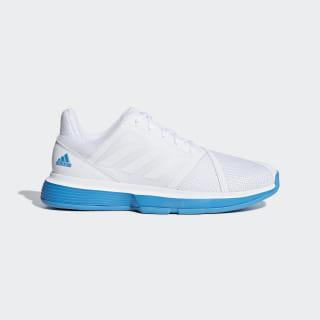 CourtJam Bounce Shoes Cloud White / Cloud White / Shock Cyan CG6329