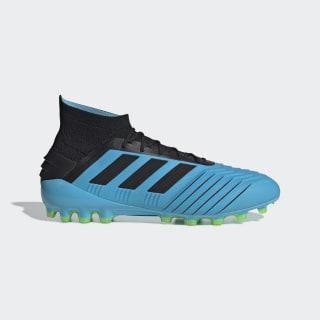 Botas de Futebol Predator 19.1 – Relva artificial Bright Cyan / Core Black / Solar Yellow F99970