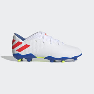 Calzado de Fútbol Nemeziz Messi 19.3 Terreno Firme Cloud White / Solar Red / Football Blue F99933