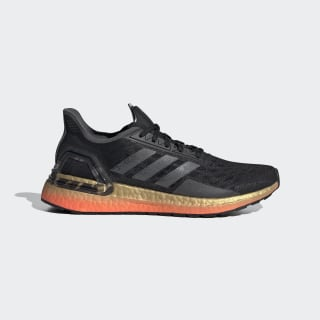 adidas Mens Ultra Boost PB Running Shoes Trainers Sneakers Black Gold Red