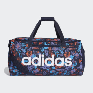 Linear Core Graphic Duffel Bag Legend Ink / Shock Cyan / White DT5654