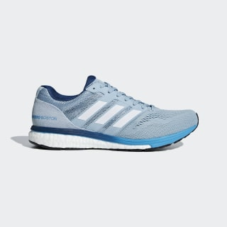 Adizero Boston 7 Shoes Ash Grey / Cloud White / Shock Cyan B37380