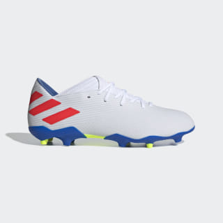 Calzado de Fútbol Nemeziz Messi 19.3 Terreno Firme Cloud White / Solar Red / Football Blue F34400