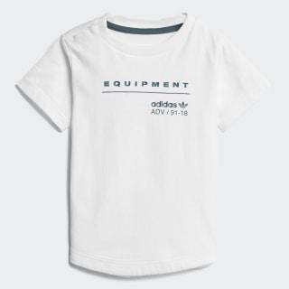 Camiseta EQT WHITE/MYSTERY GREEN S17 CD8032