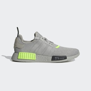 Sapatos NMD_R1 Metal Grey / Core Black / Signal Green EH0044