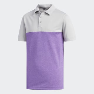 Heather Colorblock Polo Shirt Grey Two / Tmag Active Prple Ht DP5900