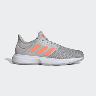 GameCourt multicourt tennis shoes Grey Two / Signal Coral / Grey Three EG2007