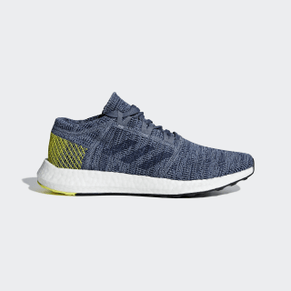 Zapatillas Pureboost Go Raw Steel / Dark Blue / Shock Yellow AH2322