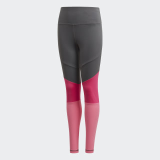Bold High-Rise Tights Grey Six / Semi Solar Pink / White DV2750