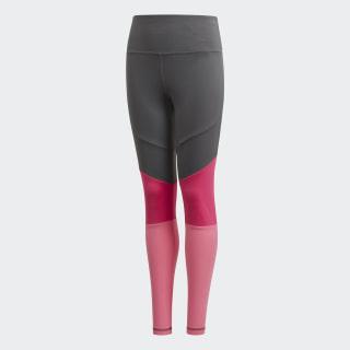 Calça Legging Cós Alto Bold Grey Six / Semi Solar Pink / White DV2750