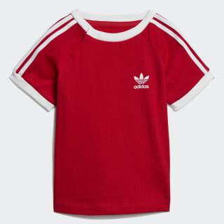 T-shirt 3-Stripes Scarlet / White ED7687