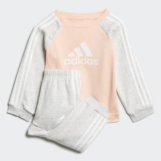 Tuta Logo Fleece Glow Pink / Light Grey Heather / White ED1179