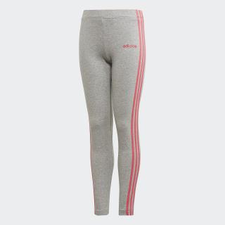 Calça Legging Essentials 3-Stripes medium grey heather/REAL PINK S18 EH6163