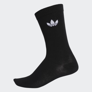 Thin Trefoil Crew Socks 2 Pairs Black / White DV1729