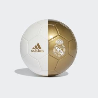 Minibalón Real Madrid White / Dark Football Gold DY2529