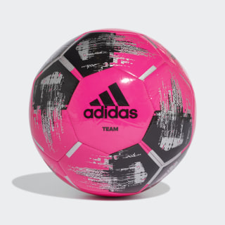 Pallone Team Capitano Shock Pink / Black / Silver Met. DY2508