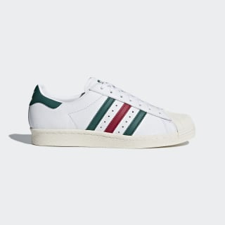 Tenis Superstar 80s FTWR WHITE/COLLEGIATE GREEN/MYSTERY RUBY F17 CQ2654