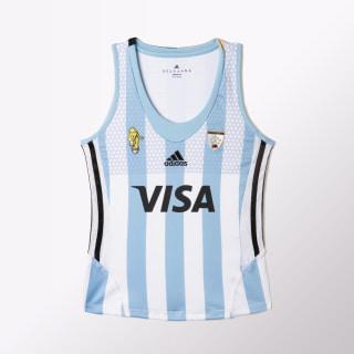 MUSCULOSA DE HOCKEY LEONAS WHITE/CLEAR BLUE AZ3488