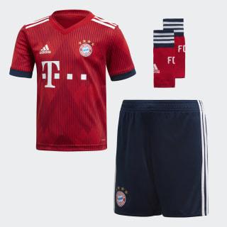 Miniconjunto primera equipación FC Bayern Fcb True Red / Strong Red / White CF5423