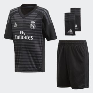 Miniconjunto portero primera equipación Real Madrid Black / Carbon CG0540