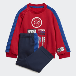Conjunto Marvel Spider-Man Jogger Top:scarlet/collegiate royal Bottom:COLLEGIATE NAVY/COLLEGIATE ROYAL ED6451