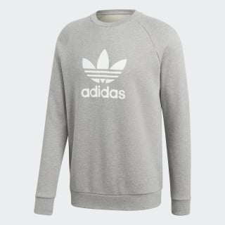 Trefoil Warm-Up Crew Sweatshirt Medium Grey Heather CY4573