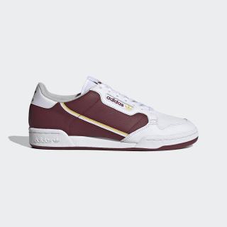 Continental 80 Shoes Cloud White / Spring Yellow / Collegiate Burgundy EF5985