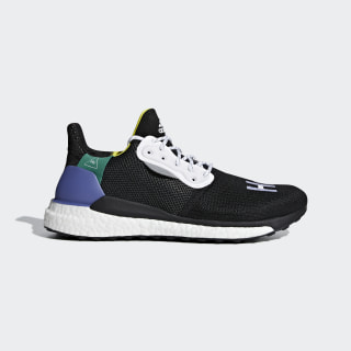 Pharrell Williams x adidas Solar Hu Glide Schuh Core Black /Ftwr White / Bold Green BB8041