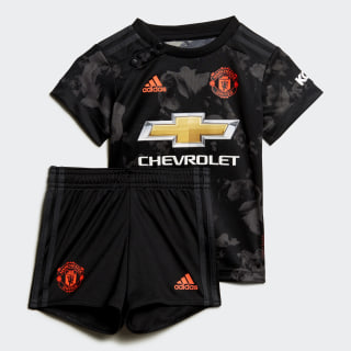 Manchester United Third Baby Kit Black DX8933