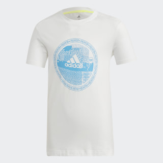 Camiseta White / Bright Cyan ED5696