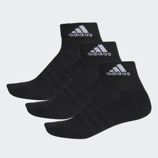 3-Stripes Performance Ankle Socks 3 Pairs Black / Black / White AA2286