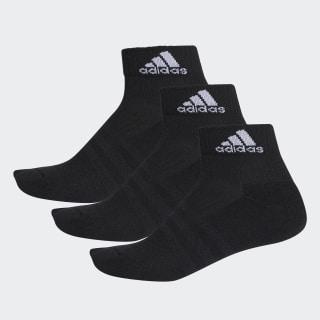 Socquettes 3-Stripes Performance (3 paires) Black / Black / White AA2286