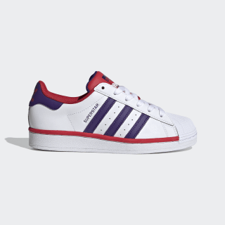Superstar Schuh Cloud White / Collegiate Purple / Scarlet FV3666