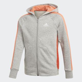 adidas Athletics Club  Hoodie Medium Grey Heather / Semi Coral FN1021