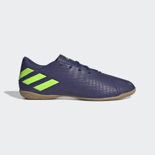 Chuteira Nemeziz Messi 19.4 Futsal Tech Indigo / Signal Green / Glory Purple EF1810