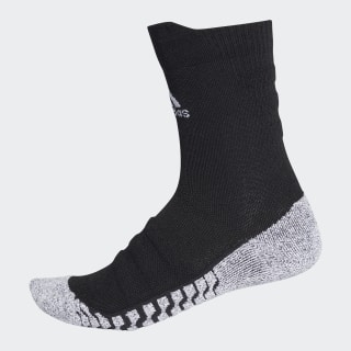 Alphaskin Traxion Lightweight Cushioning Crew Socks Black / White CV7576