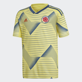 Colombia Home Jersey Light Yellow / Night Marine DN6621