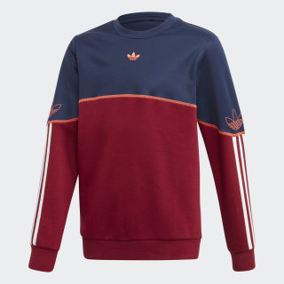 Outline Crew Sweatshirt Night Indigo / Collegiate Burgundy / White FM4459