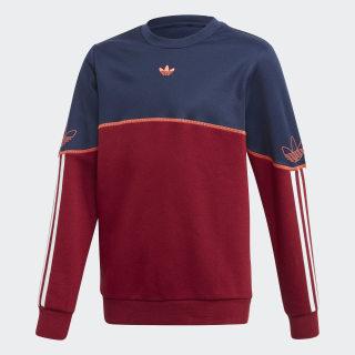 Outline Crew sweatshirt Night Indigo / Collegiate Burgundy / White FM4459