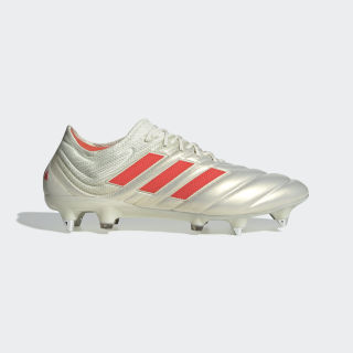 Zapatos de Fútbol Copa 19.1 Terreno Suave Off White / Solar Red / Core Black F36075