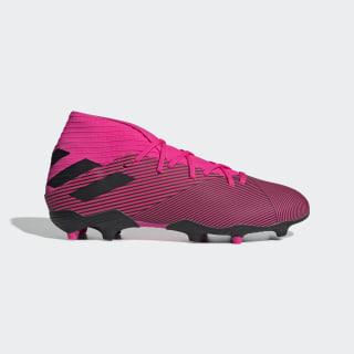 Calzado de Fútbol Nemeziz 19.3 Terreno Firme Shock Pink / Core Black / Shock Pink F34388