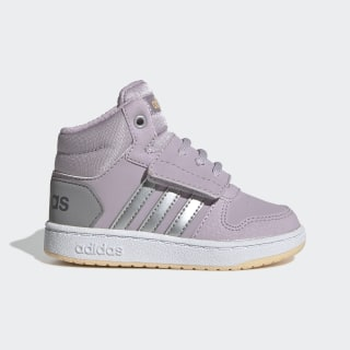 Hoops 2.0 Mid Shoes Mauve / Matte Silver / Light Granite EE9602