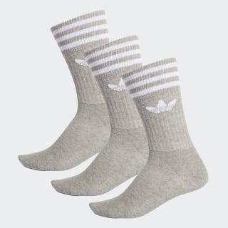 Skarpety do łydki – 3 pary Medium Grey Heather / White ED9361