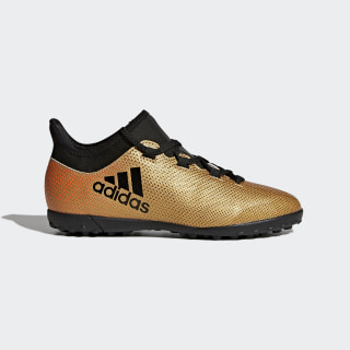 X Tango 17.3 Turf Boots Tactile Gold Met./Core Black/Solar Red CP9024