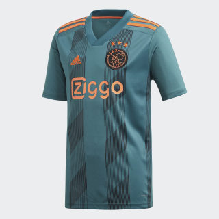Ajax Auswärtstrikot Tech Green / Black / Semi Solar Orange EI7374