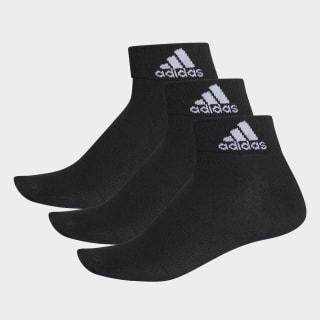 3 pares de calcetines cortos finos Performance Black AA2321