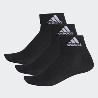 Performance Thin Ankle Socks 3 Pairs Black / Black / White AA2321