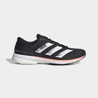 Adizero Adios 5 Shoes Core Black / Cloud White / Signal Coral EE4292