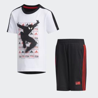 Комплект: футболка и шорты Marvel Spider-Man Summer white / black / active red DV0831